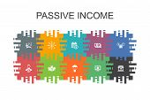Passive Income Cartoon Template With Flat Elements. Contains Such Icons As Affiliate Marketing, Divi poster