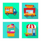 Vector Design Of Amusement And Store Logo. Collection Of Amusement And Urban Vector Icon For Stock. poster