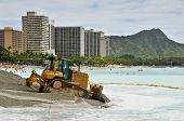 Waikiki Beach Maintenance Project Heavy Equipment