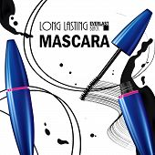 Beautiful Poster For The Promotion Of Cosmetic Premium Mascara Product. Cosmetic Ads For Packaging   poster