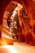 Amazing shot at the Grand Canyon inside cave Antelope