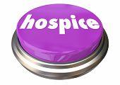 Hospice Care Button Instant Assistance Help Assistance 3d Illustration poster