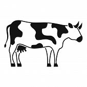 Diary Cow Icon. Simple Illustration Of Diary Cow Vector Icon For Web Design Isolated On White Backgr poster