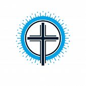 Christian Cross True Belief Vector Religion Symbol, Christianity Jesus Icon. poster