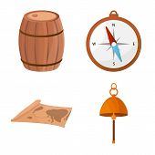 Isolated Object Of Adventure And Sea Symbol. Set Of Adventure And Travel Vector Icon For Stock. poster