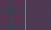 Black Pink & Blue  Plaid Paper Set