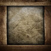 grunge canvas with wood frame