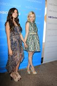 PASADENA - APR 18: Morgan Eastwood, Francesca Eastwood at the NBCUniversal summer press day held at