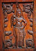 wooden carving on Sri Lanka