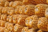 Stacked Dried Sweetcorn