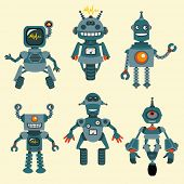 Cute little Robots Collection - in vector - set 1