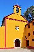 view of Shrine of Santa Marina, in Pratdip, Spain