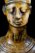 pic of nefertiti  - bust of Queen Nefertiti on black background - JPG
