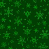 Vector Green Christmas Seamless Pattern. Green Christmas Background poster