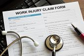 Claim form for an injury at work