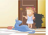 O gato e a menina