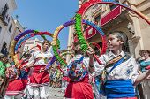 Ball De Cercolets At Festa Major In Sitges, Spain