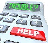 Having financial trouble?  Press the help button on this calculator for finance budget aid or assist