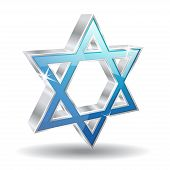 3d Glossy Jewish Vector Icon Illustration