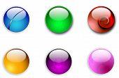 Aqua web round buttons
