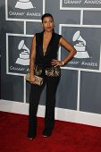 LOS ANGELES - FEB 10:  Melanie Fiona arrives at the 55th Annual Grammy Awards at the Staples Center on February 10, 2013 in Los Angeles, CA