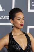 LOS ANGELES - FEB 10:  Alicia Keys arrives at the 55th Annual Grammy Awards at the Staples Center on