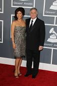 LOS ANGELES - FEB 10:  Julie Chen, Les Moonves arrive at the 55th Annual Grammy Awards at the Staples Center on February 10, 2013 in Los Angeles, CA