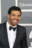 LOS ANGELES - FEB 10:  Drake arrives at the 55th Annual Grammy Awards at the Staples Center on Febru