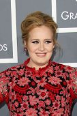 LOS ANGELES - FEB 10: Adele kommt bei den 55th Annual Grammy Awards im Staples Center FEBRVAR