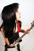 Hübsche Rocker Girl