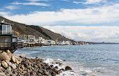 Houses Over Ocean In Malibu California