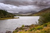 View Of Snowdon From Llyn Mymbyr In Snowdonia National Park
