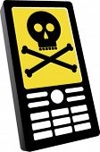 Mobile Phone with Skull and Bones