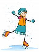Постер, плакат: Катание на коньках