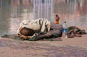 Poor people in Haridwar, India