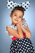pic of hair bow  - Portrait of a cute little pin - JPG