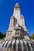 Cervantes Monument At Madrid Spain