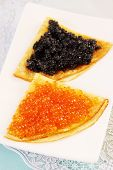 Pancakes With Caviar,portion