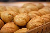 wheat bread in supermarket