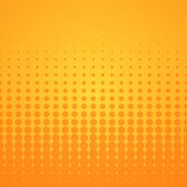stock photo of symmetrical  - Bright disco background with orange spots on yellow - JPG