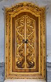 Balinese Carving Door In Batuan Temple, Bali