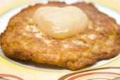 Fresh potato Pancake with Applesauce