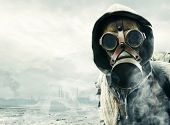 stock photo of rubber mask  - Environmental disaster - JPG