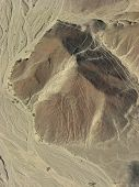 Mysterious shapes shapes to Nazca in Peru Astronaut