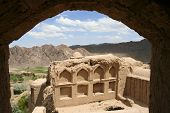 The view from the windows of the old village in Iran, Charanak