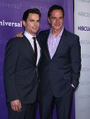 LOS ANGELES - JAN 06:  MATT BOMER & TIM DeKAY arriving to TCA Winter Press Tour 2012: NBC Party  on