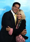 LOS ANGELES - JAN 06:  LOU FERRIGNO & wife CARLA arriving to TCA Winter Press Tour 2012: NBC Party