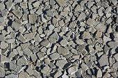 pic of asbestos  - Small pieces of brocken asbestos plate as background - JPG