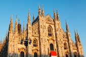 Постер, плакат: Миланский собор Дуомо ди Милано — готический собор Церкви в Милан Италия