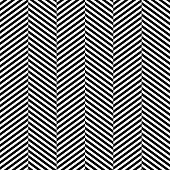 Black and white herringbone fabric seamless pattern, vector